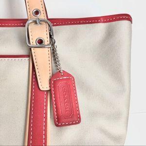 NWOT Vintage CLASSIC Coach Mini Tote Canvas Bag